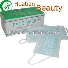 Disposable plain plastic face mask