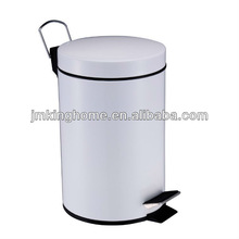 white bathroom pedal bin 5l