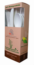 disposable biodegradable plastic cutlery set