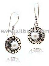 Sterling Silver Earring E.074 Pearl