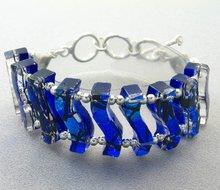 Dichroic Glass Bracelet Sterling Silver 925