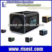 Multifunctional Mini Speaker+Video Camera+MP4+FM Radio+Table Clock