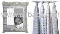 Aden & Anais Baby Muslin Wrap-Boy/Blue