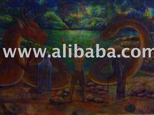 Orang Asli Temuan Legend painting