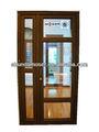 Moser puerta de madera con revestimiento de aluminio- puerta de vidrio
