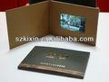 Regalo de empresa 3.5 pantalla lcd tarjeta/folleto de vídeo tarjetas de felicitación