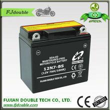 lead acid battery 12V 7ah, starting 12N7-BS battery motorcycle, motorcycle parts