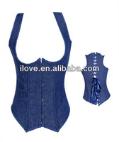 Much beautifull hot women sex blue corset in top selling 2013