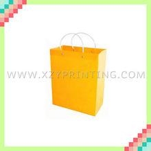 Popular fashionable high quality transparent garment yellow PVC bag