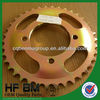 RX115 Sprockets Golden Motorcycle Transmission Parts, High-Tech Motorcycle Pinions RX115 Cheap Sell