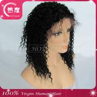 100% Malaysian curly human hair full lace wig