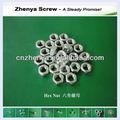 De aceroinoxidable 304/316/200 astm a563 nutin hexagonal con la fábricaiso9001/sgs/ce