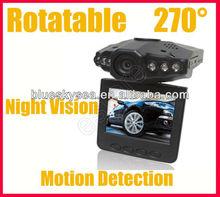 HD 720P IR Car Vehicle Dash Camera Rotable 270 degree Monitor updated model 207GS with G-Sensor seamless loop recording