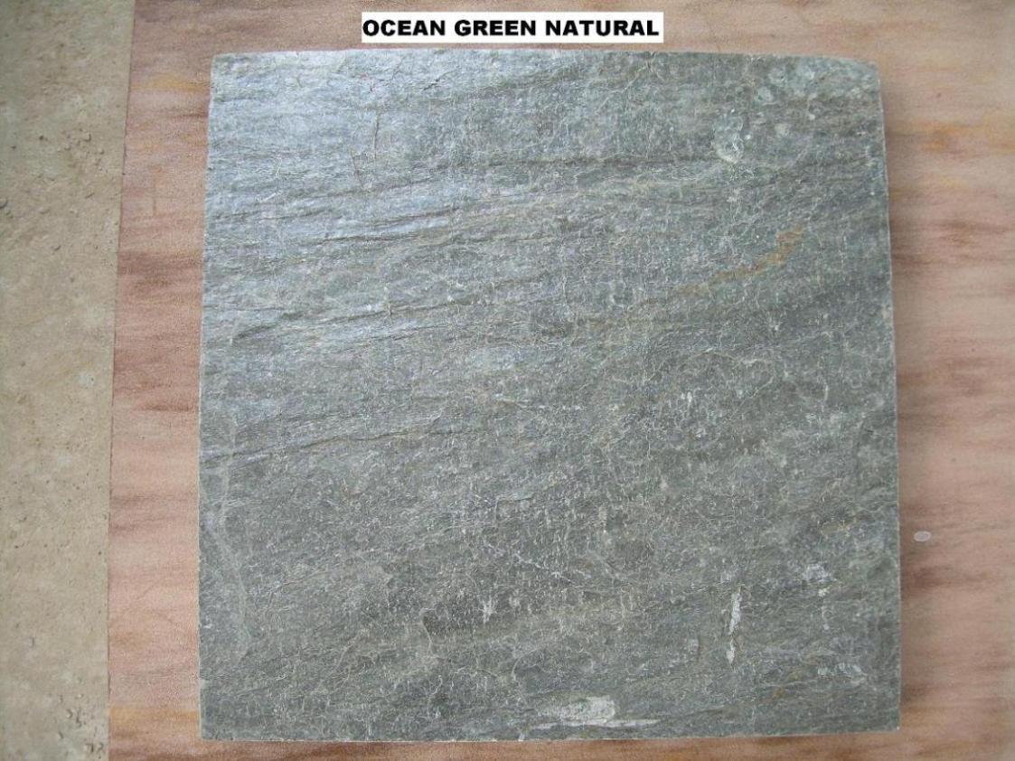 Mar verde de la pizarra natural de piedra pizarra - Piedra natural pizarra ...