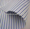 100% cotton yarn dyed blue white striped fabric for shirts