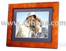 Amber brown wood Digital Photo Frame