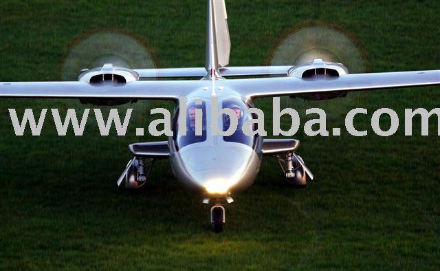 "Twin Engine ""Rear Facing"" Propeller Aircraft"
