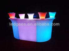 wine pub flashing bar counter/illuminated modern furniture