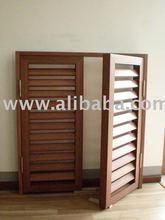 wood plastic composite fixable slat shutter window