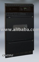 New 24 inch Black Self Cleaning Built in Gas wall oven
