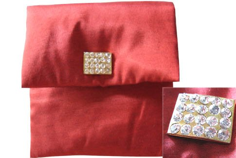 Red silk envelope wedding invitations silk invitation boxes and pouches