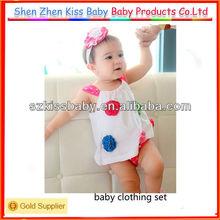 2 pcs cheap newborn baby clothing set 2013 in stock