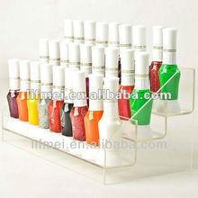 Custom 3 tiers acrylic/plexiglass/PMMA nail polish Display stand China