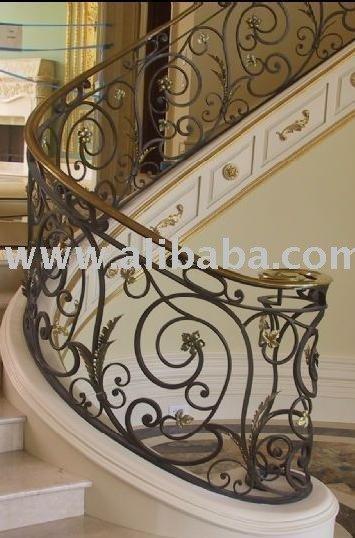 Ornamentales de hierro forjado puertas barandilla de la - Pasamanos de hierro forjado para escaleras ...
