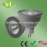 SAA listed 5w 400lm cob mr16 in ground led lights 12v