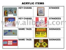 ACRYLIC/PLASTIC ITEMS