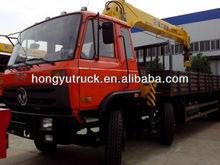 dongfeng EQ1258KB3GJ1 220hp 10toncapacity 5ton crane lorry mounted crane lorry crane truck lorry with crane