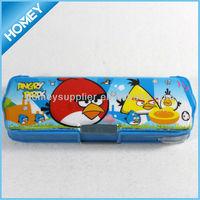 Cheap colorful plastic student pencil case for school
