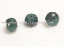 Round Cut - Emerald Gemstone Beads Lot