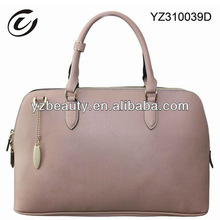 Professional Handcraft Pink Women Tote Handbags Leather Factory
