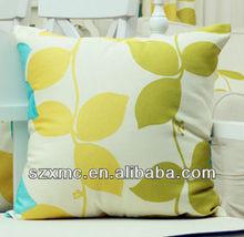 Bright color outdoor rattan back cushion leaf design cushion