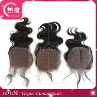 4*4 inch cheap human lace closure virgin brazilian hair closure