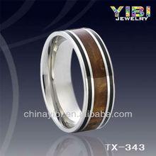 Custom Design Engagement Rings Tungsten Black Walnut Wood Grain Ring