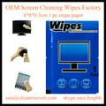Tela melhor preço personalizado wet wipes papel Crepe fábrica