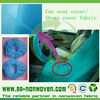 disposable shoes cover fabric, car seat cover fabric
