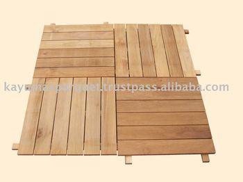 Teak Garden Tile 50cm x 50cm