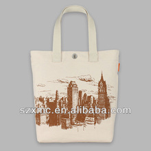 fashion digital print canvas shopping bag in promotional bags fashion