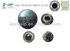 15mm gun metal garment snap on buttons