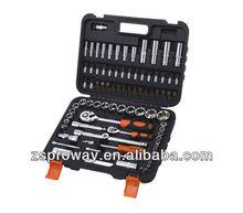 86pcs 1/2&1/4 dr.metric socket wrench set,universal multi socket