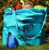 Parachute Silk Expando Market Bag hand-made in Bali