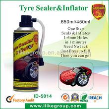 Tubeless Emergency Using Aerosol Car Tyre Inflator&Sealer Manufacture(REACH,SGS,TUV)