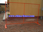Canada standard temporary construction fence panels with steel feet and top clip (welded mesh/modular steel)