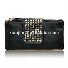2013 Retro Rivet Imitaed Leather Clutch/Evening/Tote Bag, Fashion Casual Wallet(BHX027)
