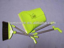 2013 new plastic retractable broom assembled foldable dustpan set