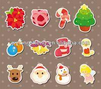 2013 Cartoon fashion promotion pvc sticker christmas sticker glow in the dark dragon