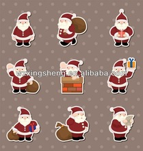 2013 Wholesale fashion promotion pvc sticker christmas sticker inkjet photo sticker paper